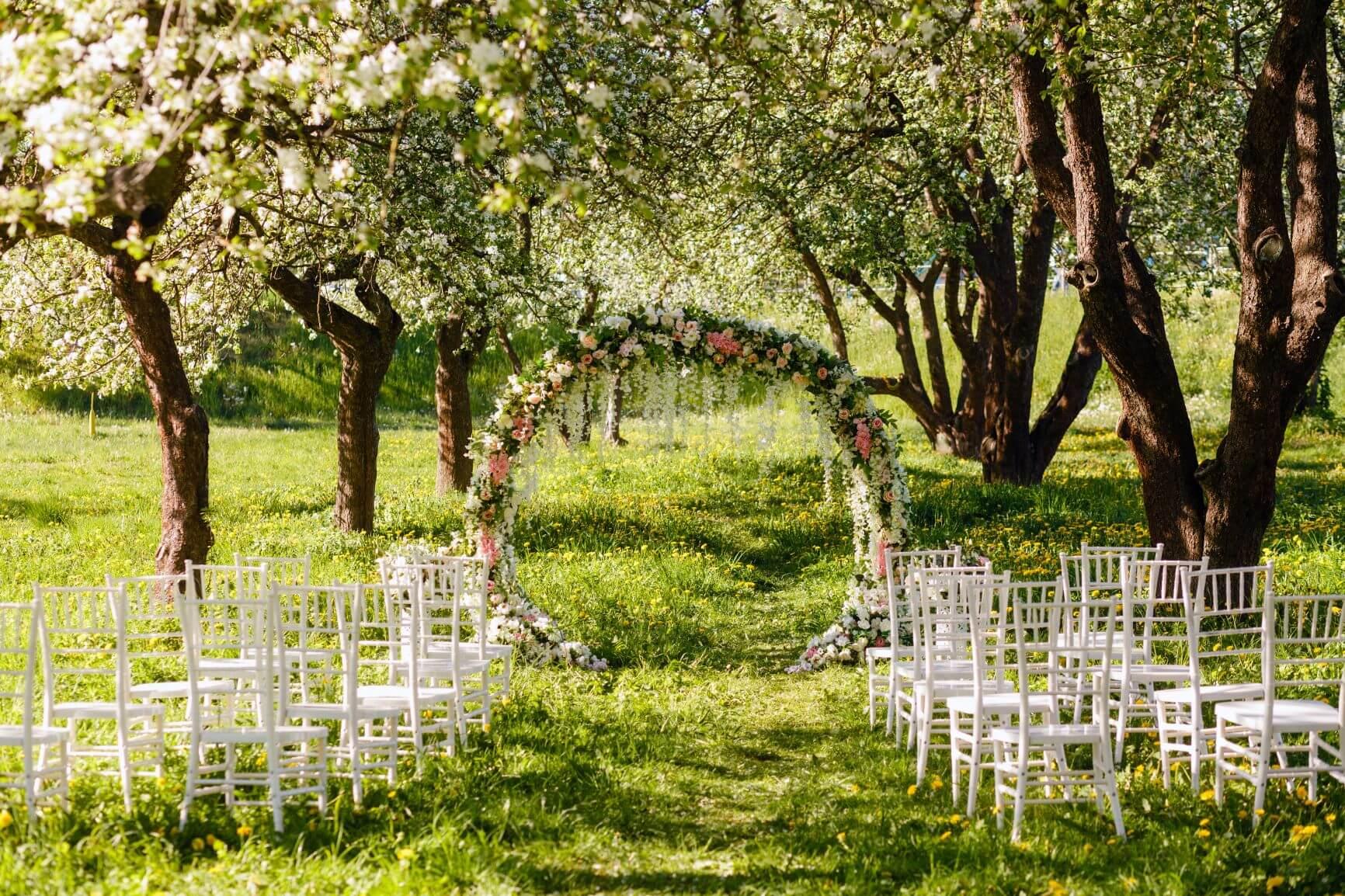 Spring wedding venue