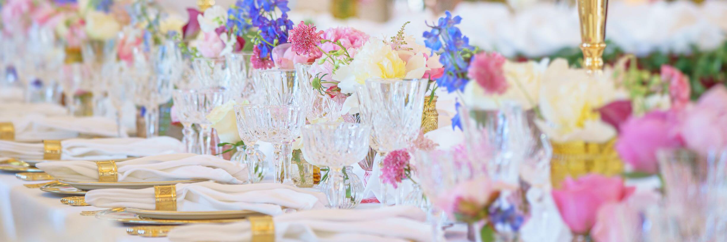 How To Dress Up Your Reception Tables