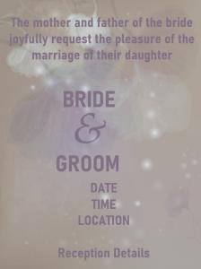 wedding invitation wording example