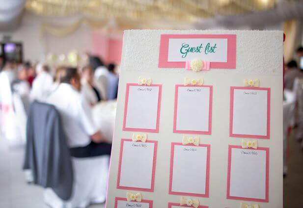 How to organise your wedding guest list