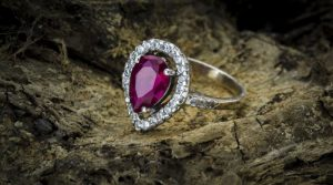 A Red Ruby engagement ring