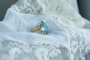 vintage wedding aquamarine ring