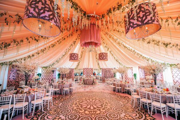 a stunning and colourful Moroccan Weddings venue