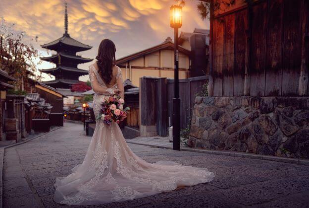 a bride at a Japanese wedding