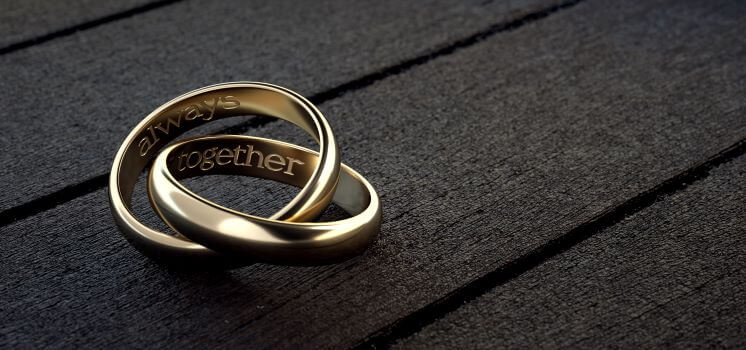 Personalise your wedding ring engraved message example